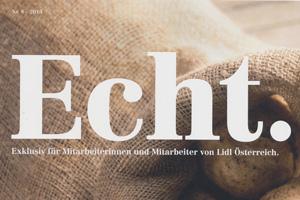"""""""Echt"""", das Mitarbeitermagazin der Firma Lidl Österreich"""