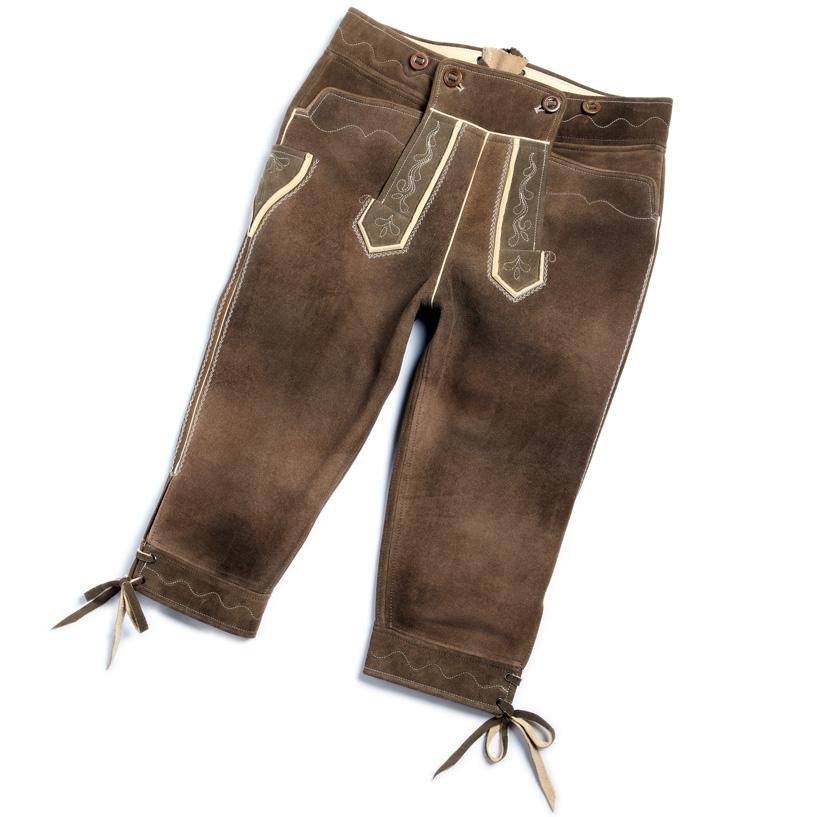 Die einfache Kniebund-Lederhose